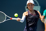July 28, 2019: Danielle Lao (USA) in action where she was defeated by Kristie Ahn (USA) 6-1, 6-4 in the final round of qualifying in the Mubadala Silicon Valley Classic at San Jose State in San Jose, California. ©Mal Taam/TennisClix/CSM