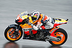 KUALA LUMPUR, MALAYSIA - OCTOBER 25: Dani Pedrosa of Spain rides the #3 Repsol Honda Team Honda through the rain to finishing second on the Malaysian MotoGP, which is round 16 of the MotoGP World Championship at the Sepang Circuit on October 25, 2009 in Kuala Lumpur, Malaysia. Photo by Victor Fraile / The Power of Sport Images