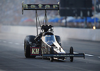 Jul, 9, 2011; Joliet, IL, USA: NHRA top fuel dragster driver Del Worsham during qualifying for the Route 66 Nationals at Route 66 Raceway. Mandatory Credit: Mark J. Rebilas-