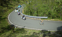 Martijn Keizer (NLD/LottoNL-Jumbo) solo's between 2 groups <br /> <br /> 2015 Giro<br /> st4: Chiavari - La Spezia (150km)