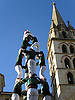 a human tower, called Casteller, is being built in front of the parrish church Nostra Senyora de Robines during the 40. Wine Festival Sa Vermada in Binissalem<br /> <br /> construyendo un casteller en frente de la parroquia Nuestra Señora de Robines durante la fiesta tradicional de vino La Vermada (cat.: Festes de Vermar) en Binissalem<br /> <br /> Menschenturm vor der Pfarrkirche Nuestra Senora de Robines während dem traditionellen Weinfest La Vermada in Binissalem<br /> <br /> 3307 x 2480 px<br /> 150 dpi: 56,00 x 41,99 cm<br /> 300 dpi: 28,00 x 21,00 cm