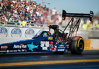 Jul 28, 2017; Sonoma, CA, USA; NHRA top fuel driver Clay Millican during qualifying for the Sonoma Nationals at Sonoma Raceway. Mandatory Credit: Mark J. Rebilas-USA TODAY Sports