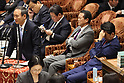 Japanese Prime Minister Shinzo Abe attends Lower Hoise's budget session