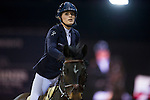 Jessica Mendoza on Spirit T competes during the Airbus Trophy at the Longines Masters of Hong Kong on 20 February 2016 at the Asia World Expo in Hong Kong, China. Photo by Juan Manuel Serrano / Power Sport Images