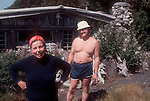 San Juan Islands; Yellow Island; Joe and Sally Hall, 1979 owners that sold to the Nature Conservancy for a Nature Conservancy Preserve; Washington Chapter; Washington State, Pacific Northwest, U.S.A.,