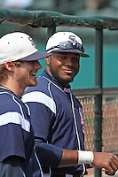 Samford Bulldogs outfielder Phillip Ervin #6 before a game against the The Citadel Bulldogs at Joseph P. Riley Jr. Ballpark on March 10, 2013 in Charleston, SC. Samford defeated the Citadel 14-8. (Robert Gurganus/Four Seam Images)