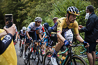 Primoz Roglic (SLV/Jumbo Visma) and Egan Bernal (COL/Ineos Grenadiers) up the Col de Marie Blanque<br /> <br /> Stage 9 from Pau to Laruns 153km<br /> 107th Tour de France 2020 (2.UWT)<br /> (the 'postponed edition' held in september)<br /> ©kramon