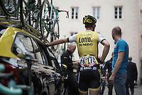 Maarten Tjallingii (NLD/LottoNL-Jumbo) waiting for the start<br /> <br /> stage 16: Bressanone/Brixen - Andalo 132km<br /> 99th Giro d'Italia 2016