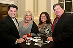 WATERBURY, CT-08 NOVEMBER 2010-010811S27--Christopher Robinson, Nicki Maiorano, Dawn Maiorano and Matt Ramia at the  City Hall Gala held at the newly restored Waterbury City Hall. <br />  Jim Shannon Republican-American