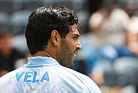 LOS ANGELES, CA - MAY 29: Carlos Vela #10 of LAFC during a game between New York City FC and Los Angeles FC at Banc of California Stadium on May 29, 2021 in Los Angeles, California.