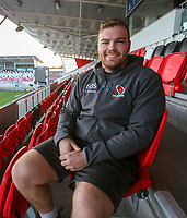 Monday 18th November 2019 | Ulster Rugby Match Briefing<br /> <br /> Ulster loosehead Eric O'Sullivan at the Match Briefing held at Kingspan Stadium, Belfast ahead of the Heineken Champions Cup Round 2 clash against ASM Clermont Auvergne at Kingspan Stadium, Belfast,  on Friday evening .  Photo by John Dickson / DICKSONDIGITAL