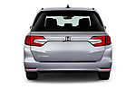 Straight rear view of 2020 Honda Odyssey EX-L 5 Door Minivan Rear View  stock images