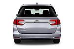 Straight rear view of 2020 Honda Odyssey EX-L 5 Door Minivan Rear View  stock images