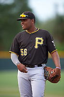 Pittsburgh Pirates Edwin Espinal (56) during a minor league Spring Training intrasquad game on April 3, 2016 at Pirate City in Bradenton, Florida.  (Mike Janes/Four Seam Images)