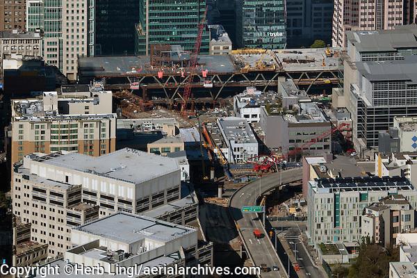 aerial photograph  Transbay Transitl Center San Francisco, California