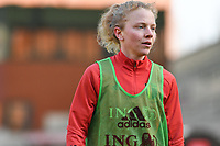 Charlotte Tison (15) of Belgium pictured during a Womens International Friendly game between Belgium , called the Red Flames and Norway at Koning Boudewijnstadion in Brussels , Belgium. Photo Sportpix.be / SPP
