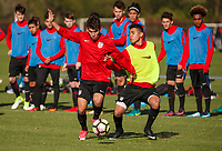 Lakewood Ranch, FL : The US Soccer U-18 MNT trains at the Premiere Sports Complex during the Men's Youth National Team Summit in Lakewood Ranch, Fla., on January 4, 2018. (Photo by Casey Brooke Lawson)