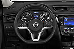 Car pictures of steering wheel view of a 2019 Nissan X-Trail Tekna 5 Door SUV