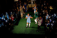 Yael Averbuch of Sky Blue FC shows off the new kit during the Puma WPS uniform unveiling in Philadelphia, PA.