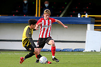 Fin Stevens of Brentford in action during Watford Under-23 vs Brentford B, Friendly Match Football at Clarence Park on 24th November 2020