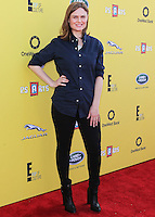 SANTA MONICA, CA, USA - NOVEMBER 16: Emily Deschanel arrives at the P.S. ARTS Express Yourself 2014 held at The Barker Hanger on November 16, 2014 in Santa Monica, California, United States. (Photo by Celebrity Monitor)