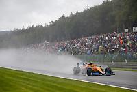 28th August 2021; Spa Francorchamps, Stavelot, Belgium: FIA F1 Grand Prix of Belgium, qualifying sessions;   4 Lando Norris GBR, McLaren F1 Team before crashing out