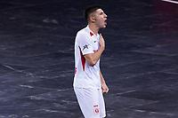 9th October 2020; Palau Blaugrana, Barcelona, Catalonia, Spain; UEFA Futsal Champions League Finals; FC Barcelona versus MFK KPRF;  Asadov celebration after scoring his goal for MFK
