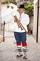 Italian Bag Pipe (Zanpogna) player, Massimo Antonelli, Picinisco, Italy.