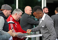 Pictured: Jordan Ayew signs autographs Wednesday 18 May 2017<br />Re: Swansea City FC, Player of the Year Awards at the Liberty Stadium, Wales, UK.