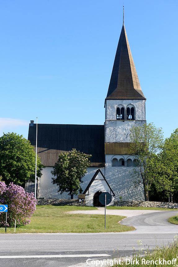 Kirche von Rute auf der Insel Gotland, Schweden, Europa<br /> Church of Rute, Isle of Gotland Sweden