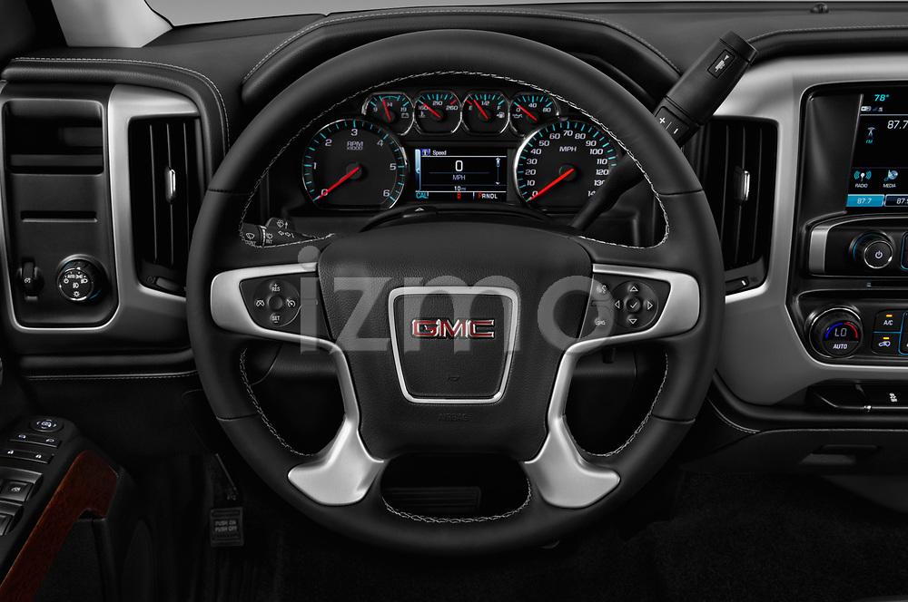 Car pictures of steering wheel view of a 2017 GMC Sierra-1500 Crew-SLE 4 Door Pickup Steering Wheel