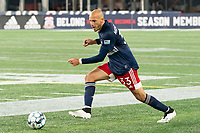FOXBOROUGH, MA - OCTOBER 16: Tiago Mendonca #33 of New England Revolution II during a game between North Texas SC and New England Revolution II at Gillette Stadium on October 16, 2020 in Foxborough, Massachusetts.