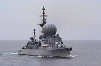 - French  Navy, missile launcher destroyer Suffren during NATO exercises in Mediterranean sea....- Marina militare francese, cacciatorpediniere lanciamissili  Suffren durante esercitazioni NATO in mar Mediterraneo