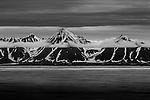 Mountains in mist, Svalbard, Norway