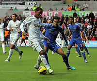 Saturday, 03 November 2012<br /> Pictured L-R: Jonathan de Guzman of Swansea marked by Eden Hazard of Chelsea<br /> Re: Barclays Premier League, Swansea City FC v Chelsea at the Liberty Stadium, south Wales.