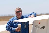 Bob Hudson: AMERIKA, VEREINIGTE STAATEN VON AMERIKA, NEW MEXICO,  (AMERICA, UNITED STATES OF AMERICA), 30.04.2006:Bob Hudson, Präsident des  Albuquerque Soaring Club