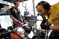 Lotus Renault F1 Finnish driver Kimi Raikkonen in garage.24/03/2012 Grand Prix Malesia, Sepang , Essais..Foto Insidefoto  /Bernard Asset / Panoramic.ITALY ONLY..
