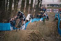 coming down the dirt jump descent<br /> <br /> GP Sven Nys (BEL) 2019<br /> U23 Men's Race<br /> DVV Trofee<br /> ©kramon
