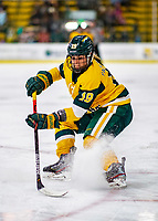 8 February 2020: University of Vermont Catamount Forward Val Caldwell, a Junior from Glenview, IL, in second period action against the University of Connecticut Huskies at Gutterson Fieldhouse in Burlington, Vermont. The Huskies defeated the Lady Cats 4-2 in the first game of their weekend Hockey East series. Mandatory Credit: Ed Wolfstein Photo *** RAW (NEF) Image File Available ***