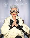 IRIS APFEL LAUNCH OF HER JEWELRY COLLABORATION AT BERNARDAUD BOUTIQUE