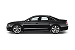 Car driver side profile view of a 2014 Audi S8 Base 4 Door Sedan
