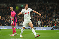 30th September 2021; Tottenham Hotspur Stadium. Tottenham, London, England; UEFA Conference League football, Tottenham v NS Mura: Harry Kane of Tottenham Hotspur celebrates after he scores for 3-1 in the 68th minute
