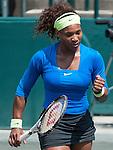 Serena Williams wins at the Family Circle Cup in Charleston, South Carolina on April 5, 2012