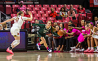COLLEGE PARK, MD - FEBRUARY 03: Maryland bench encourage Faith Masonius #13 of Maryland in a play against Taryn McCutcheon #4 of Michigan State during a game between Michigan State and Maryland at Xfinity Center on February 03, 2020 in College Park, Maryland.