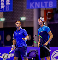 Rotterdam, Netherlands, December 13, 2017, Topsportcentrum, Ned. Loterij NK Tennis,  (NED) Men's doubles : Jelle Sels (L) and Gijs Brouwer (NED)<br /> Photo: Tennisimages/Henk Koster