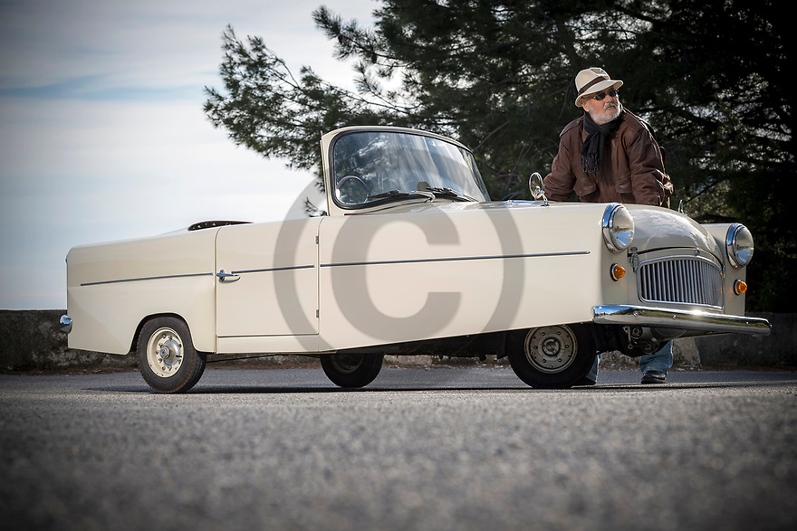 4/03/20 - SAINT MARTIN DU VAR - ALPES MARITIMES - FRANCE - Essais Bond Mk7 3 roues de 1961 - Photo Jerome CHABANNE