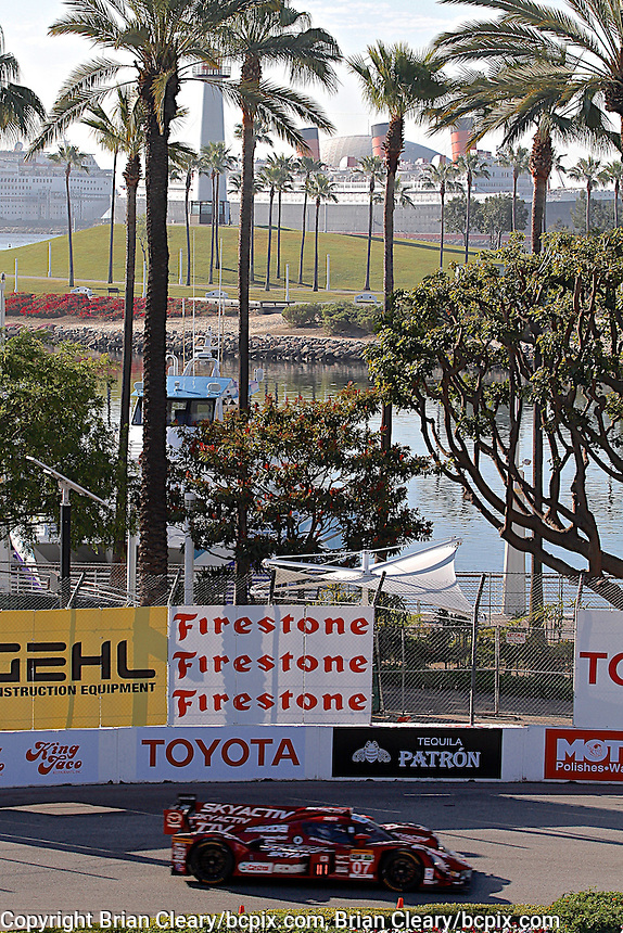 #07 Mazda Prototype Joel Miller and Tristan Nunez,  Long Beach Grand Prix, Long Beach, CA, April 2014.  (Photo by Brian Cleary/ www.bcpix.com )