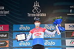 Dutch Champion Mathieu van der Poel (NED) Alpecin-Fenix who was awarded the prize for most aggressive rider of Tirreno-Adriatico Eolo 2021 after Stage 7, an individual time trial running 10.1km around San Benedetto del Tronto, Italy. 16th March 2021. <br /> Photo: LaPresse/Gian Mattia D'Alberto | Cyclefile<br /> <br /> All photos usage must carry mandatory copyright credit (© Cyclefile | LaPresse/Gian Mattia D'Alberto)
