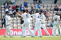 Rishabh Pant, India celebrates with Ravichandran Ashwin, India following the stumping of Tom Latham during India vs New Zealand, ICC World Test Championship Final Cricket at The Hampshire Bowl on 23rd June 2021