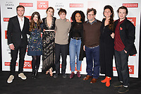 "Joe Bannister, Philippa Coulthard, Hayley Atwell, Alex Lawther, Rozalind Eleazar, Kenneth Longergan, Bessie Carter and Joe Quinn<br /> at the ""Howard's End"" screening held at the BFI NFT South Bank, London<br /> <br /> <br /> ©Ash Knotek  D3343  01/11/2017"